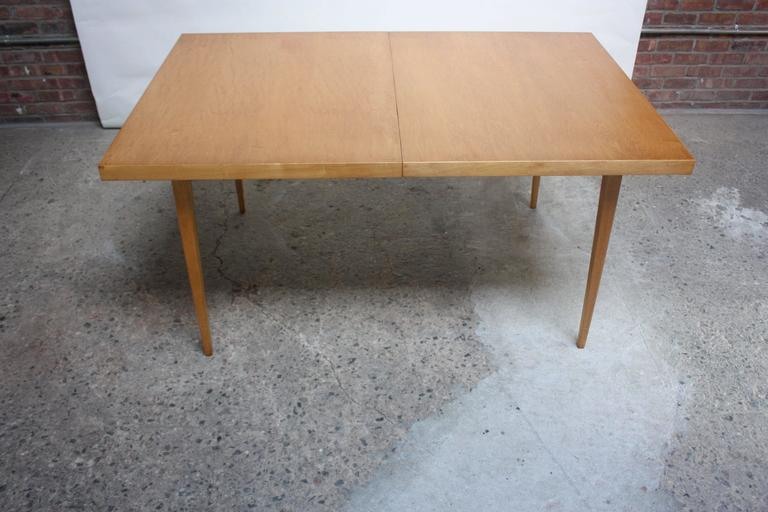 Mid-Century Modern Paul McCobb Maple Extendable Dining Table For Sale