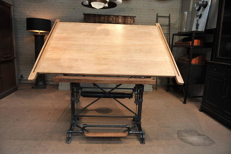 Optima French Adjustable Architect S Drafting Table 1900s