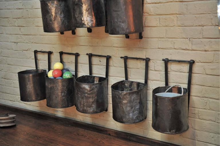 12 French Water Mill Iron Buckets, circa 1900 For Sale 3