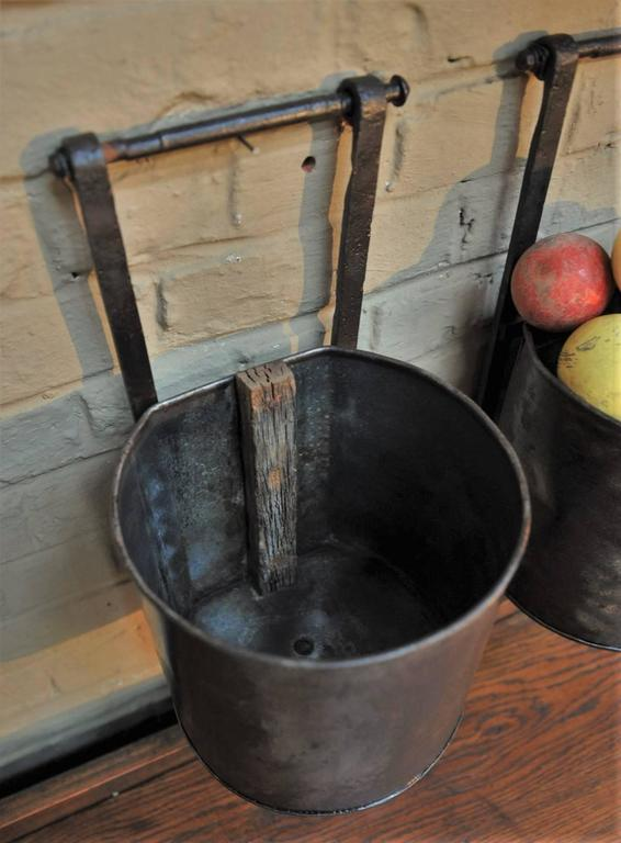 12 French Water Mill Iron Buckets, circa 1900 For Sale 4