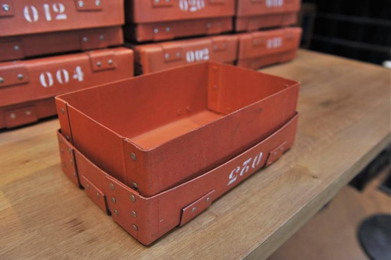 Vintage French National Bank Gold Bar Boxes, circa 1940 In Good Condition For Sale In Roubaix, FR