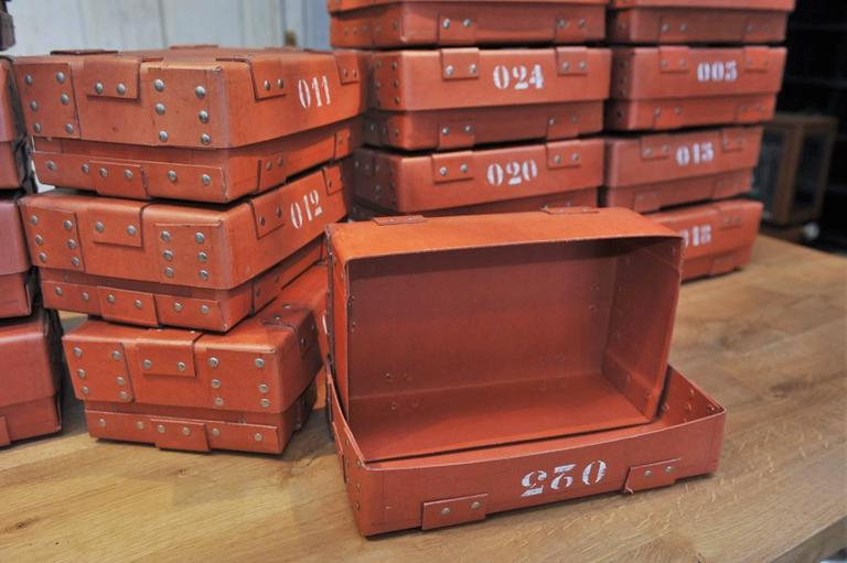 Vintage French National Bank Gold Bar Boxes, circa 1940 For Sale 3