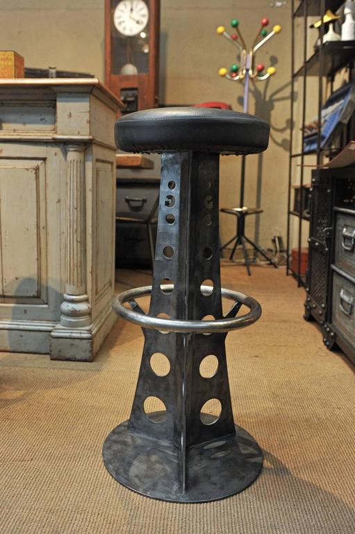 Eiffel Tower Iron Bar Stools At 1stdibs