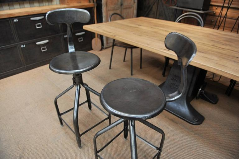 Adjustable High Stools Whale Tail Back By Nicolle 1940s