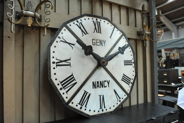1900s French Large Iron Train Station Clock Face At 1stdibs