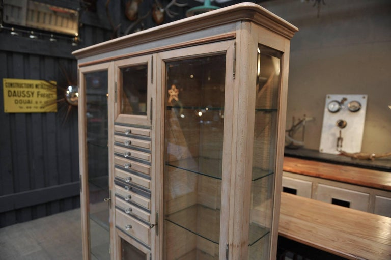 glass cabinets in kitchen beveled glass dentiste vitrine bookcase cabinet beech wood 3769