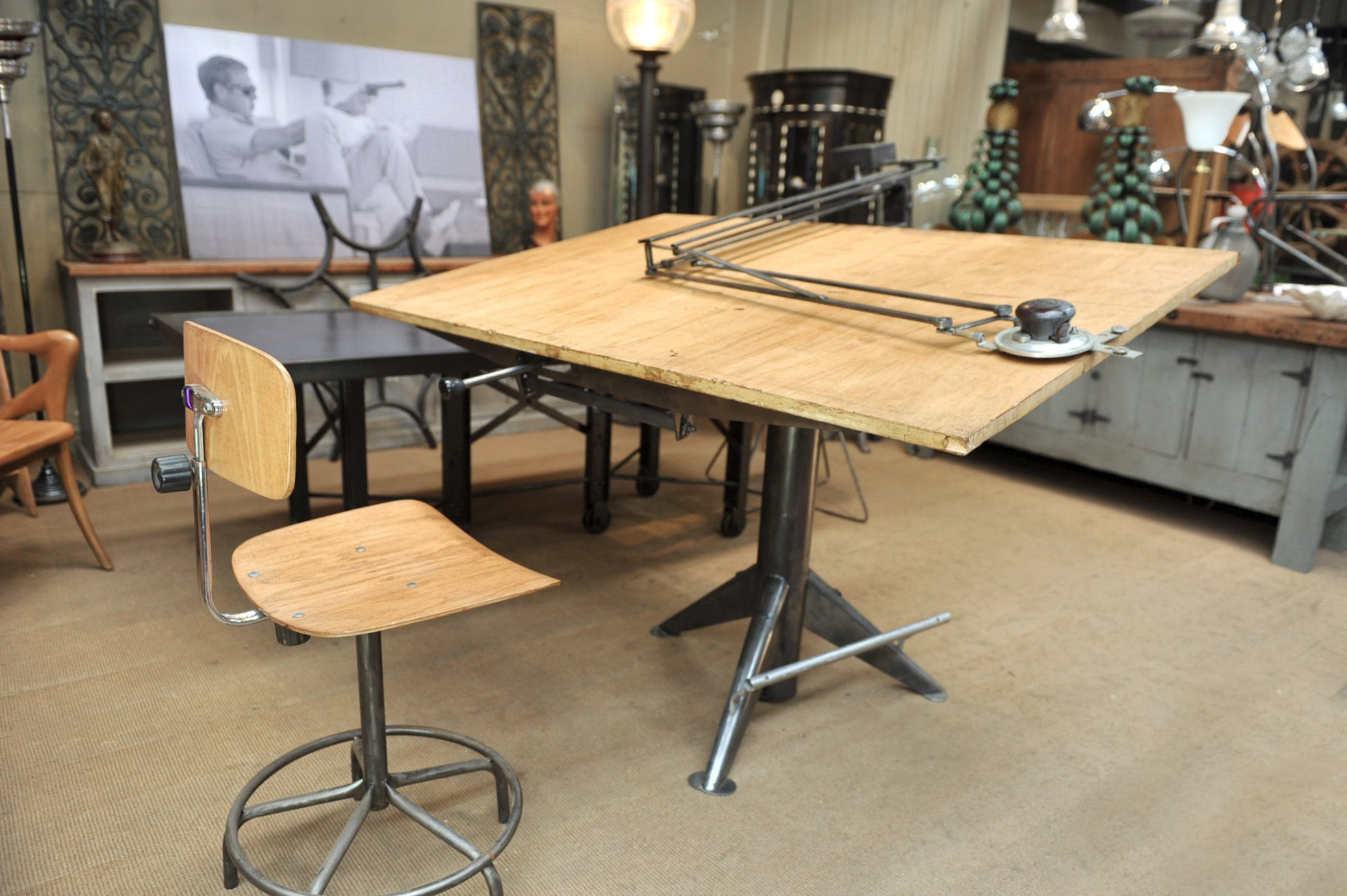 Ets sautereau paris system architects drafting table or writing desk 1950s for sale at 1stdibs