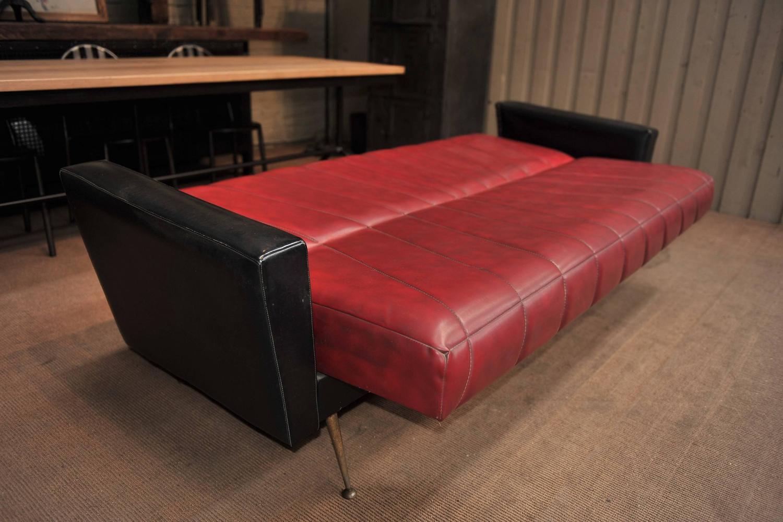 French Vintage Convertible Sofa 1960s at 1stdibs