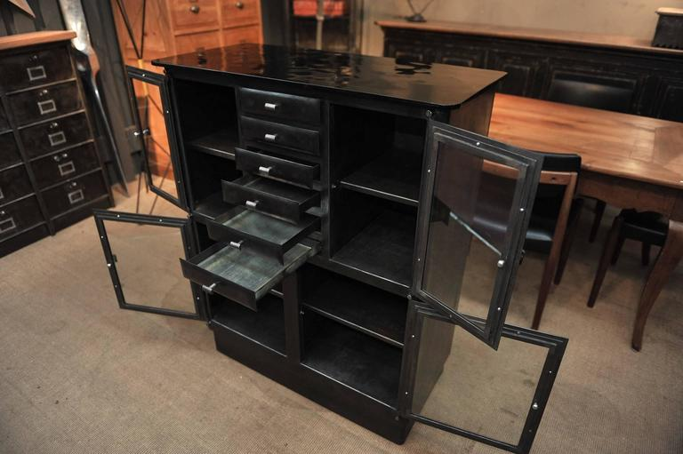 1920s dentist six curved drawers four doors iron cabinet at 1stdibs