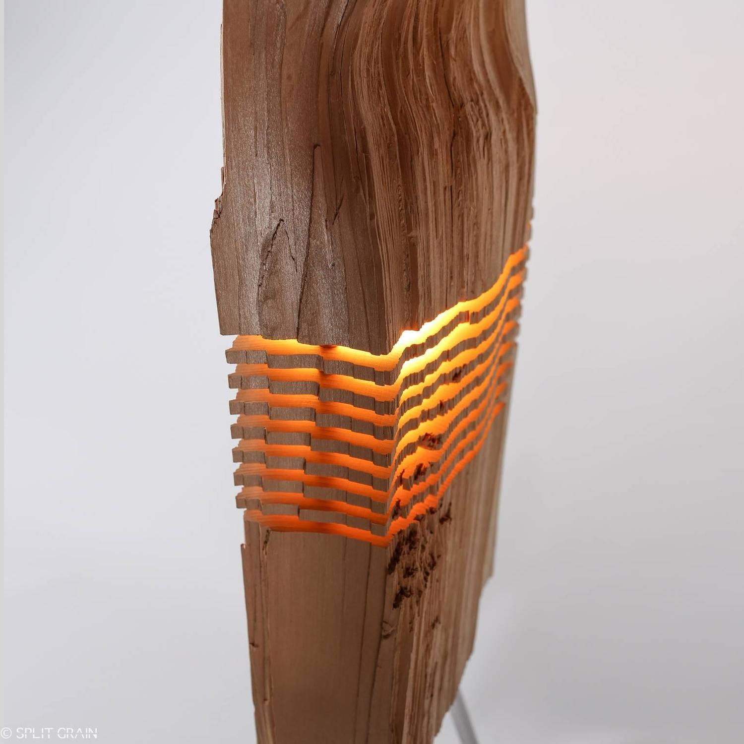 Marvelous photograph of Split Grain Cedar Wood Light Sculpture For Sale at 1stdibs with #C78A04 color and 1500x1500 pixels