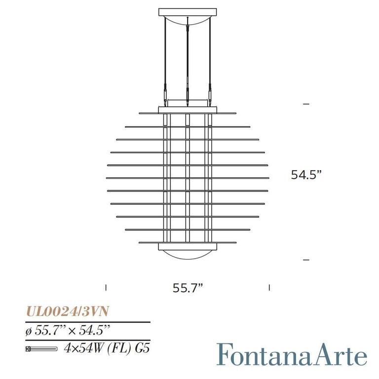 Monumental Gio Ponti 0024 Chandelier For Fontana Arte For