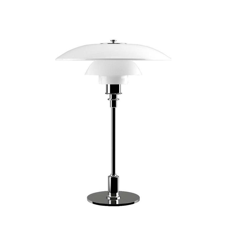 Metal Poul Henningsen Opaline Glass PH 3½-2½ Table Lamp for Louis Poulsen For Sale