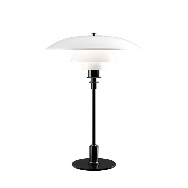 Contemporary Poul Henningsen Opaline Glass PH 3½-2½ Table Lamp for Louis Poulsen For Sale