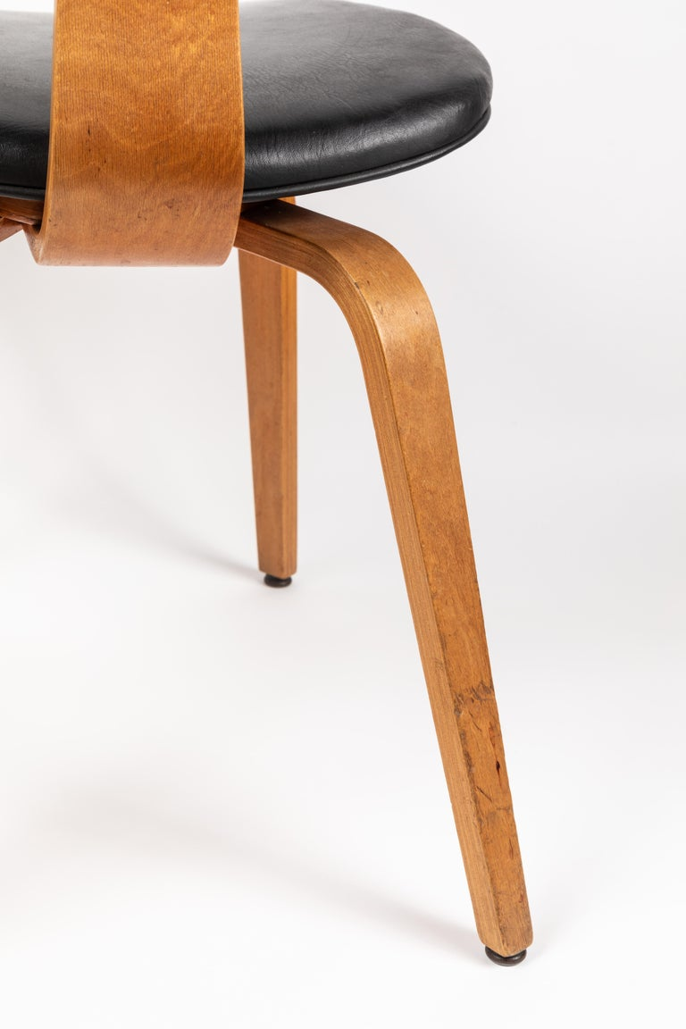 Set of Five 1950s Thonet Bentwood Chairs For Sale 5