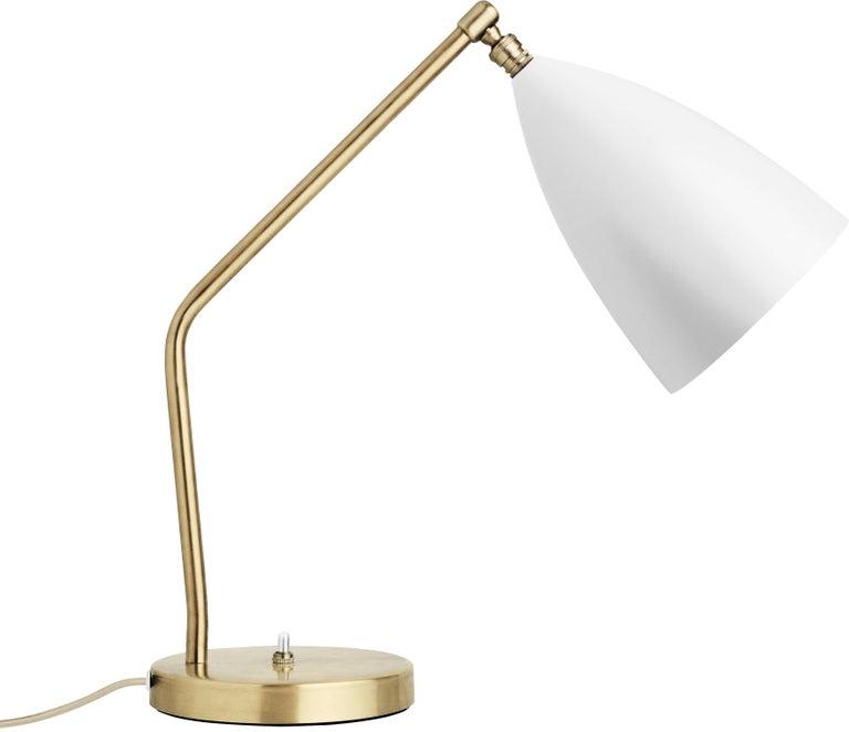 Greta Magnusson Grossman 'Grasshopper' Table Lamp in Light Gray In New Condition For Sale In Glendale, CA