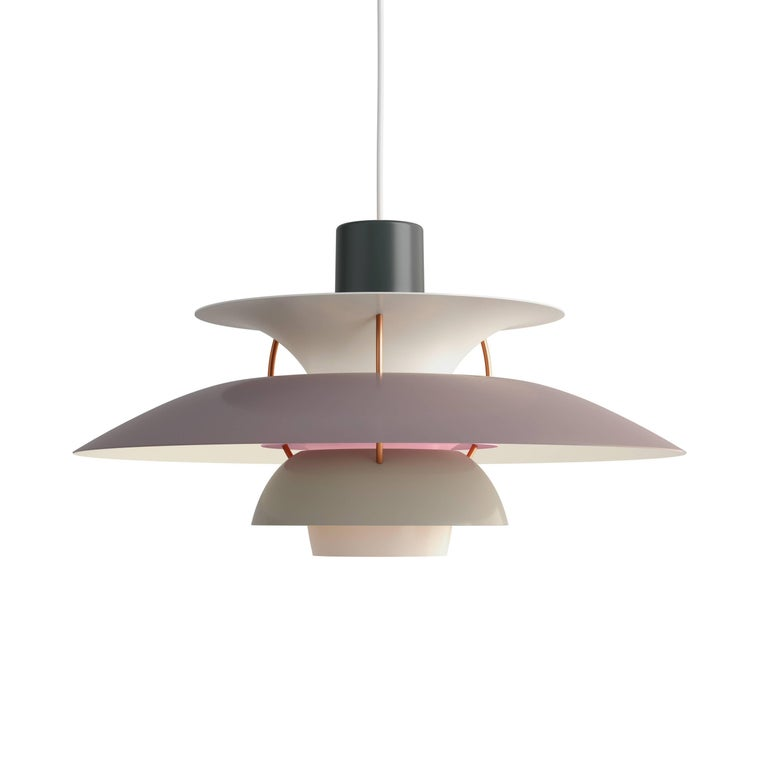 Aluminum Poul Henningsen PH 5 Pendant for Louis Poulsen in Green For Sale