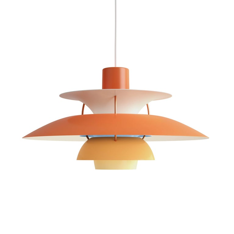 Poul Henningsen PH 5 Pendant for Louis Poulsen in Green For Sale 1