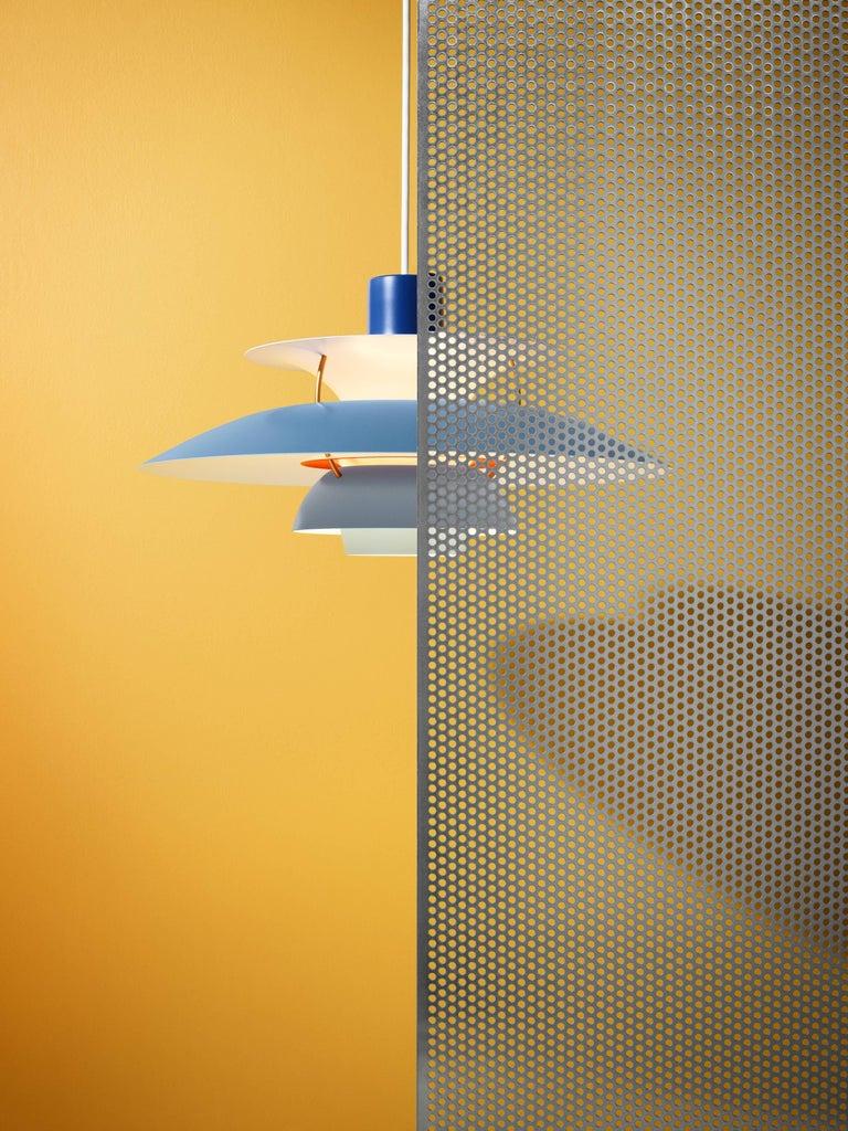 Poul Henningsen PH 5 Pendant for Louis Poulsen in Orange For Sale 7