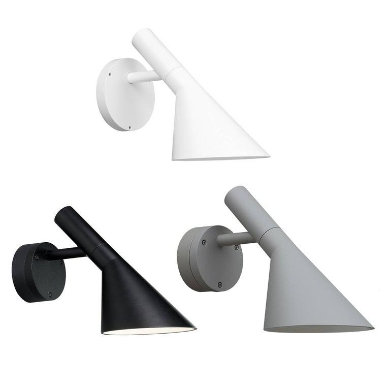 Danish Arne Jacobsen AJ 50 Outdoor Wall Light for Louis Poulsen in Black For Sale