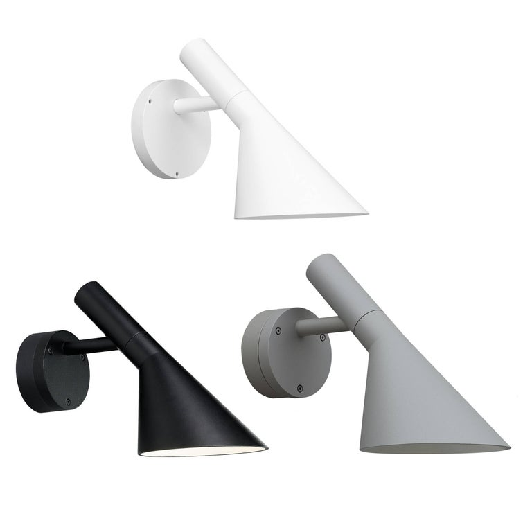 Danish Arne Jacobsen AJ 50 Outdoor Wall Light for Louis Poulsen in Grey For Sale