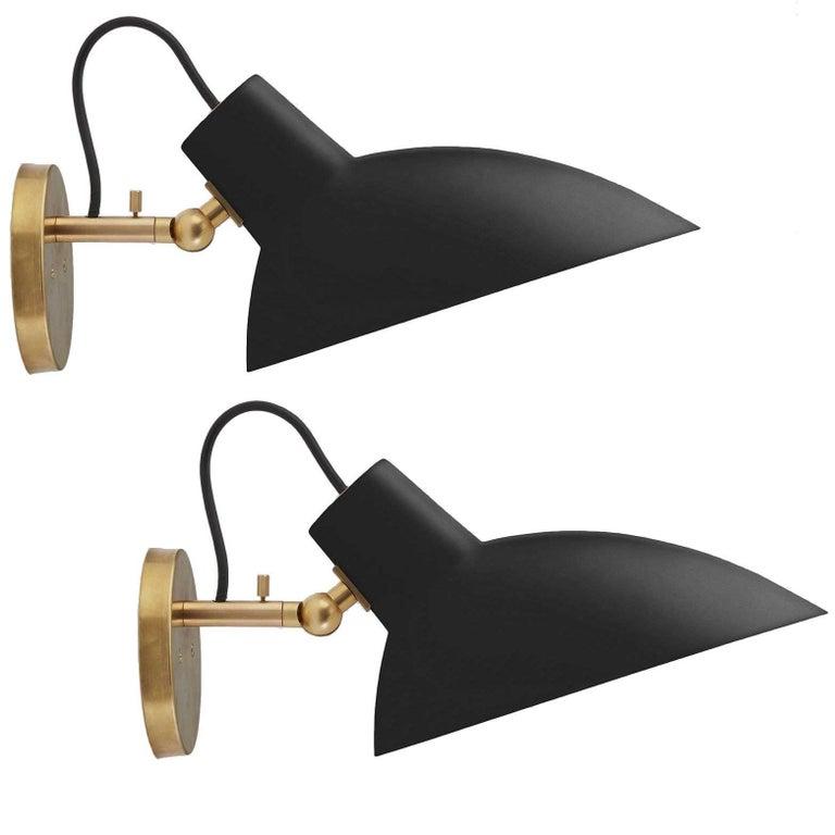 Pair of Vittoriano Viganò 'VV Cinquanta' Sconces in Black For Sale 6