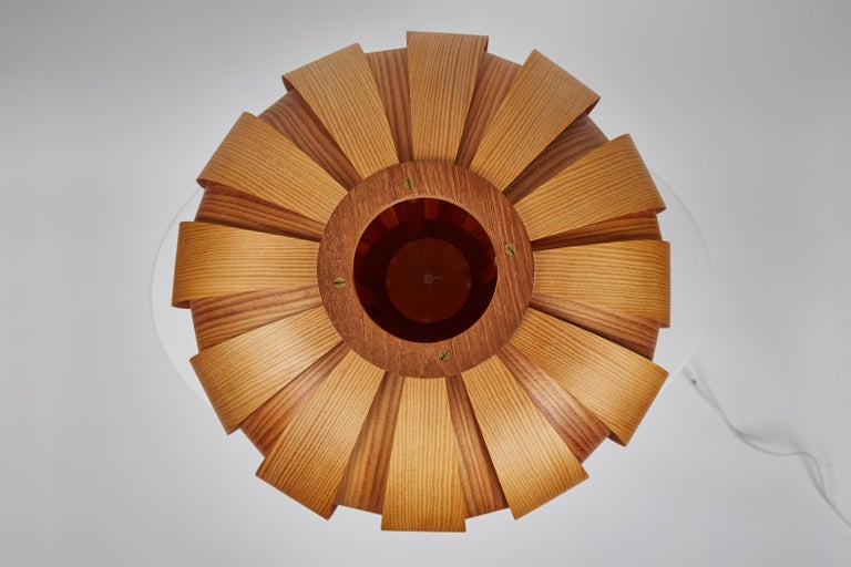 Mid-20th Century Pair of 1960s Hans-Agne Jakobsson Wood Table Lamps for AB Ellysett For Sale
