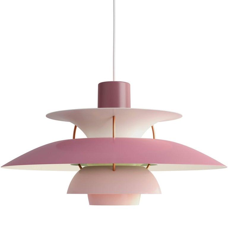 Danish Poul Henningsen PH 5 Copper Pendant for Louis Poulsen For Sale