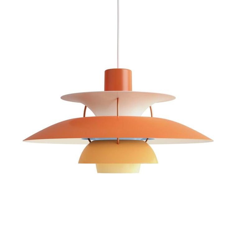 Poul Henningsen PH 5 Copper Pendant for Louis Poulsen For Sale 3