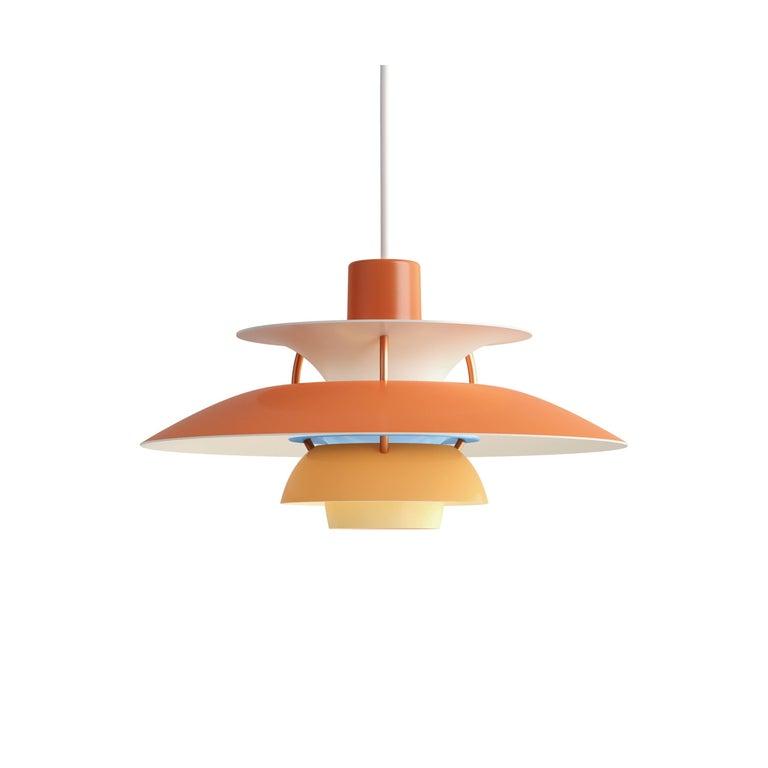 Contemporary Poul Henningsen PH5 Mini Copper Pendant for Louis Poulsen For Sale