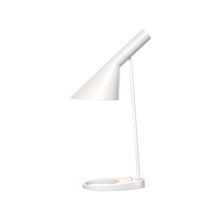 Cast Arne Jacobsen AJ Table Lamp in Dark Green for Louis Poulsen For Sale