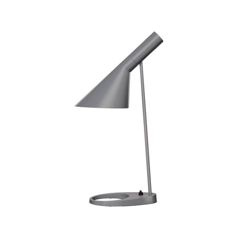 Steel Arne Jacobsen AJ Table Lamp in Dark Green for Louis Poulsen For Sale