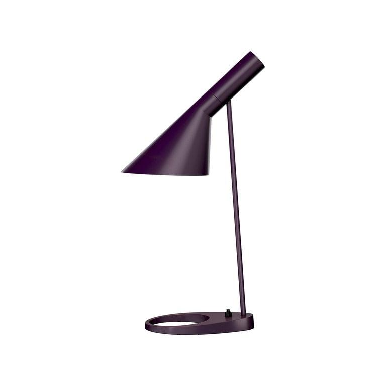 Cast Arne Jacobsen AJ Table Lamp in Midnight Blue for Louis Poulsen For Sale