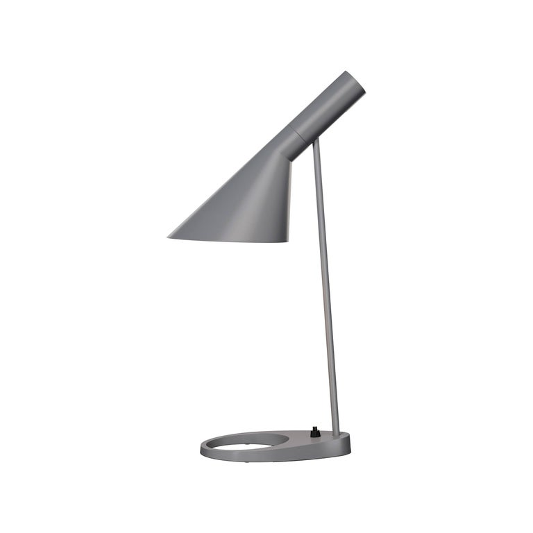 Spun Arne Jacobsen AJ Table Lamp in Light Gray for Louis Poulsen For Sale