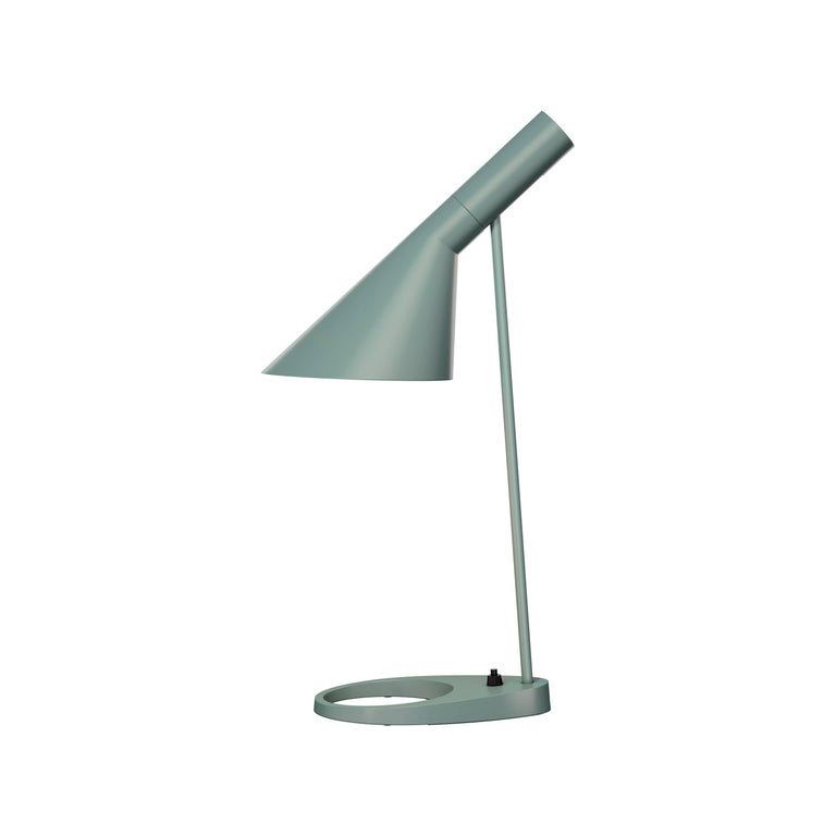 Arne Jacobsen AJ Table Lamp in Light Gray for Louis Poulsen For Sale 2