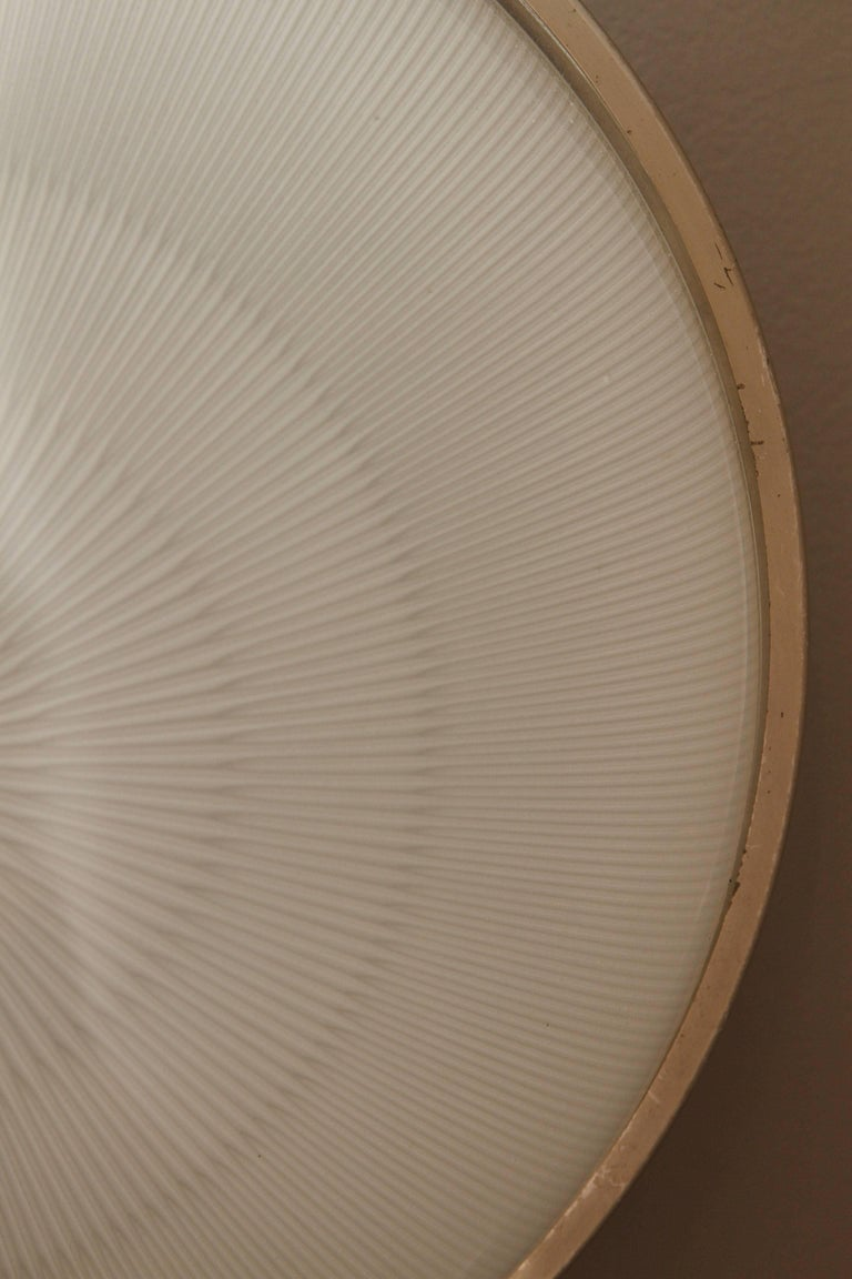 Pressed Large Sergio Mazza 'Sigma' Wall or Ceiling Light for Artemide, 1960s For Sale
