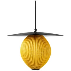 Mathieu Matégot 'Satellite' Pendant in Black and Yellow Metal