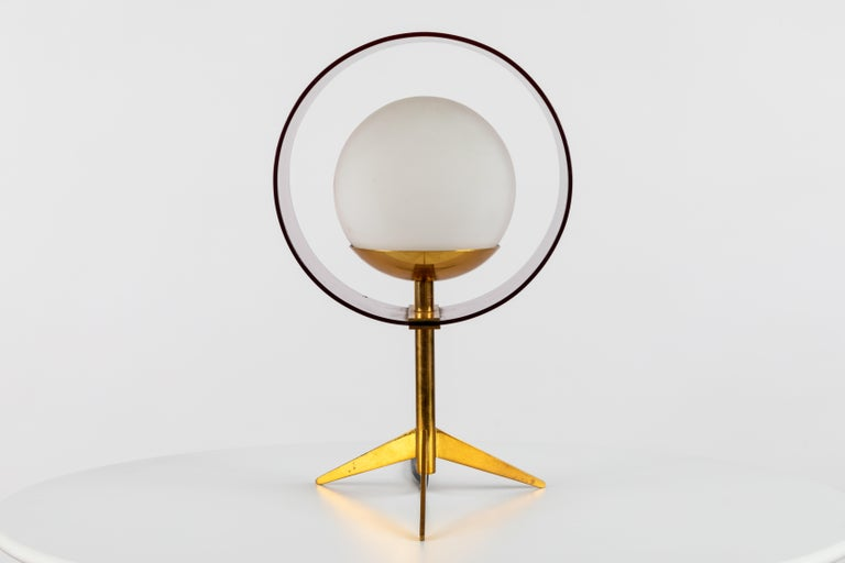 Mid-Century Modern 1950s Stilux Milano 'Saturno' Table Lamp For Sale