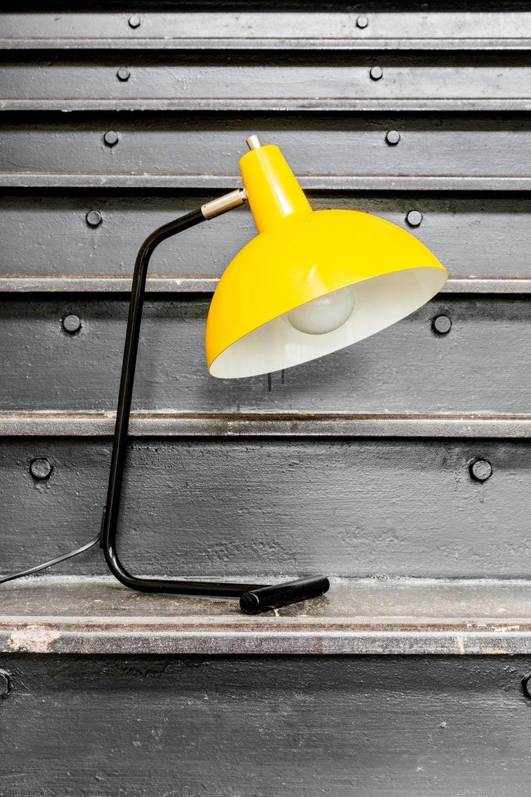 Mid-Century Modern J.J.M. Hoogervorst Yellow 'Director' Table Light for Anvia