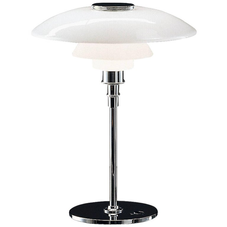 Large Poul Henningsen PH 4½-3½ Glass Table Lamp for Louis Poulsen