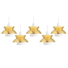 Jorn Utzon Brass Pendants for Louis Poulsen