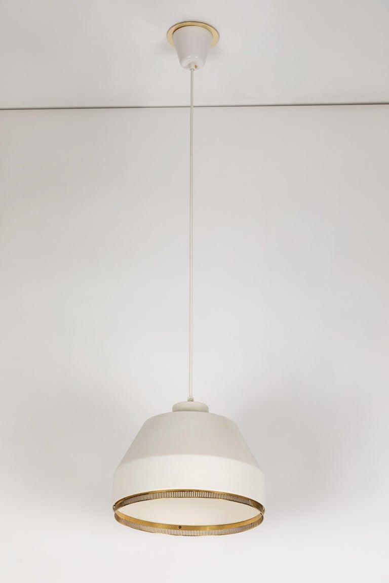 Enameled Aino Aalto 'Ama 500' Pendant Light, 1940s For Sale