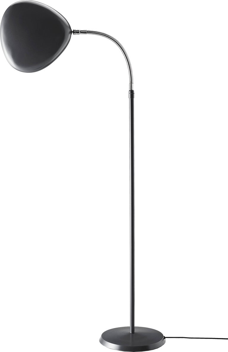 Scandinavian Modern Greta Magnusson Grossman 'Cobra' Floor Lamp in Red For Sale