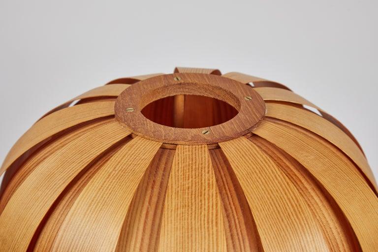 1960s Hans-Agne Jakobsson Wood Table Lamp for AB Ellysett For Sale 1