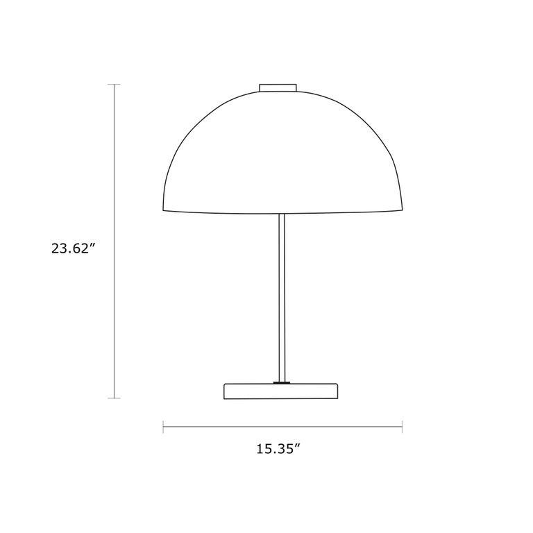 Scandinavian Modern Yki Nummi 'Kupoli' Table Lamp for Innolux Oy For Sale