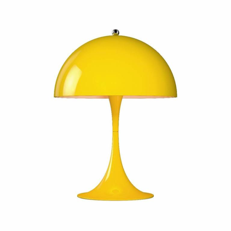 Contemporary Verner Panton Panthella Mini LED Table Lamp for Louis Poulsen For Sale