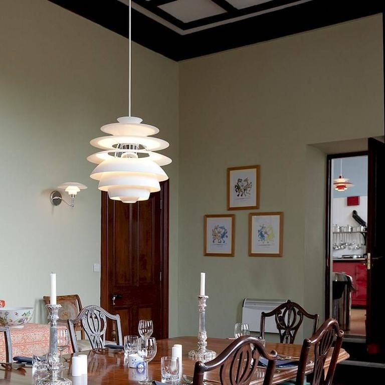 Spun Poul Henningsen PH Snowball Pendant for Louis Poulsen For Sale