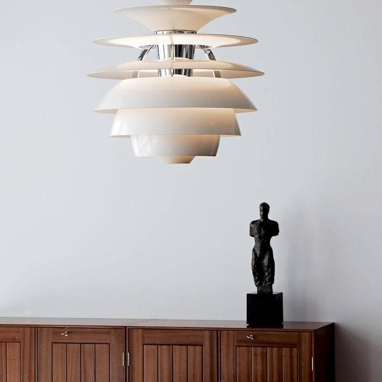 Scandinavian Modern Poul Henningsen PH Snowball Pendant for Louis Poulsen For Sale