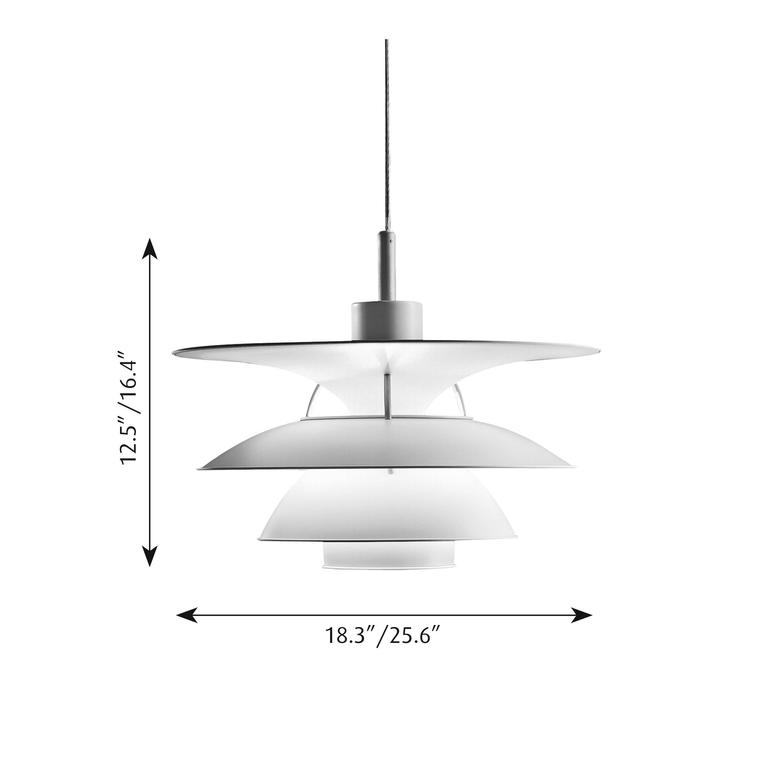 Danish Poul Henningsen PH 5-4.5 Pendant Lamp for Louis Poulsen For Sale