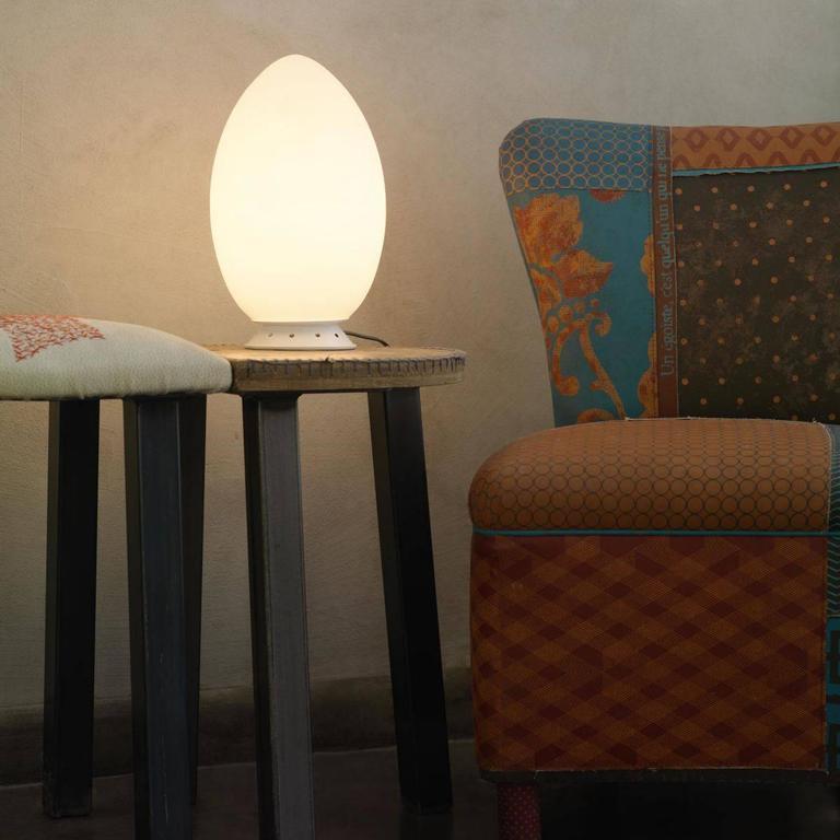Italian Fontana Arte Large 'Uovo' Table Lamp For Sale