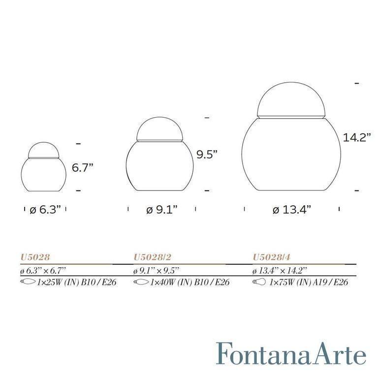 Large Sergio Asti 'Daruma' Table Lamp for Fontana Arte For Sale 4